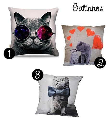 almofadas gatinhos